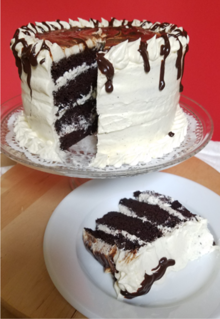 Spiced Chocolate Eggnog Cake